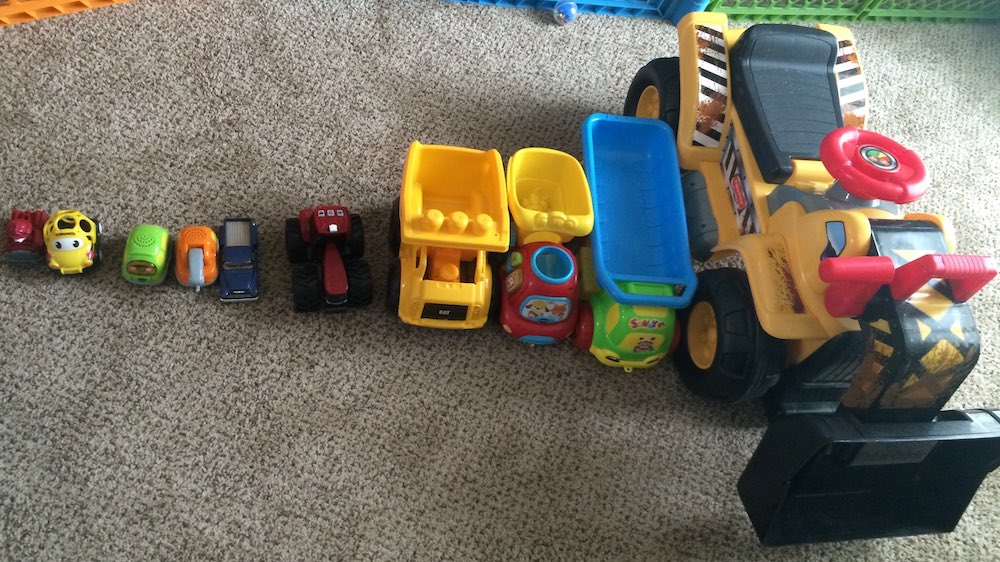 What happens when you tell relatives your toddler likes trucks.